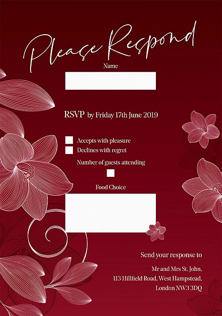 Lilly RSVP Cards
