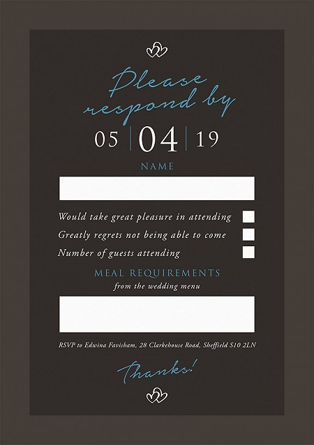 Entwined RSVP Cards