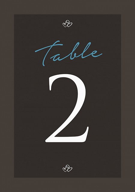 Entwined Table Numbers