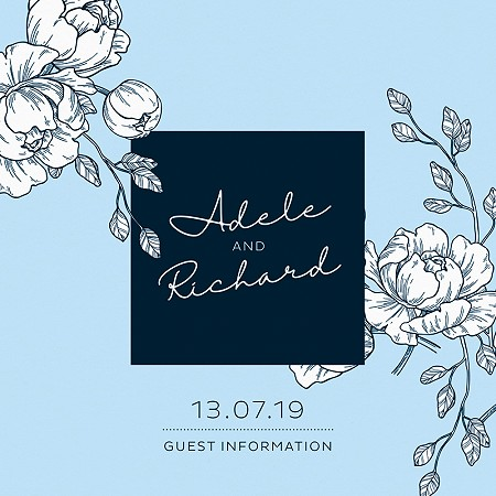 Peony Guest Information Cards