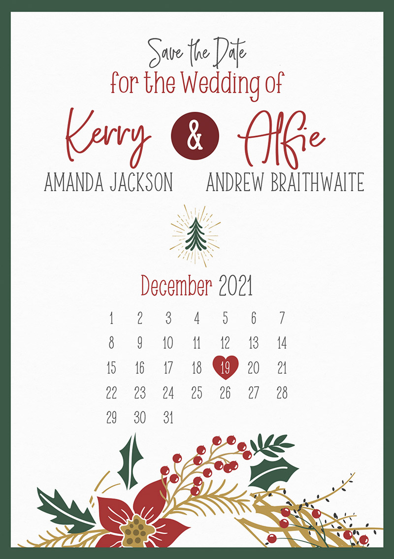 Noël Save the Date Cards