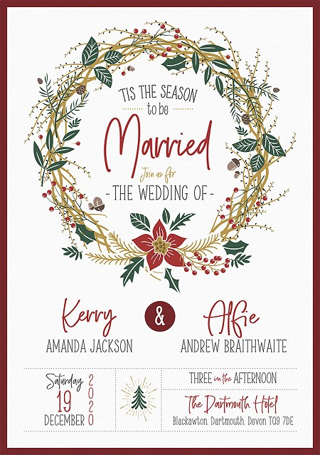 Noël Wedding Invitations